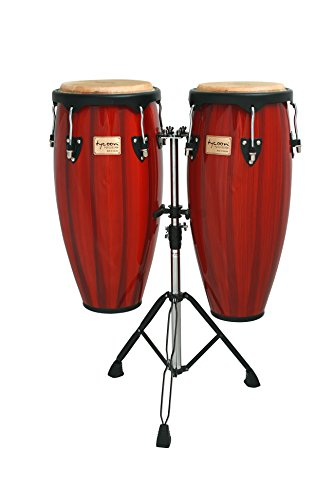 - Tycoon Percussion 10 Inch & 11 Inch Congas Hand Painted Red With Double Stand