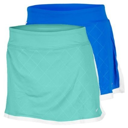 (Nike Women's Border Printed Skirt (Medium, Teal))