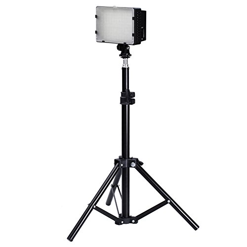 Neewer Photography 126 LED Studio Lighting Kit, including (1)CN-126 Ultra High Power Panel Digital Camera DSLR Camcorder LED Video Light (1)32''/80cm Tall Photography Mini Light Stand by Neewer