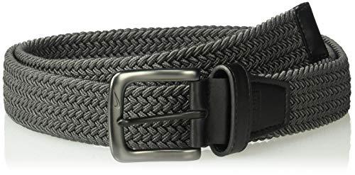 Nike Men's G-Flex Woven Stretch Golf Belt, dark grey, (Best Flex Belts)