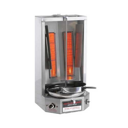 Broiler Gyro - Autodoner 3PG-LP Optimal Automatic Vertical Broiler for Gyros, Liquid Propane, Stainless Steel