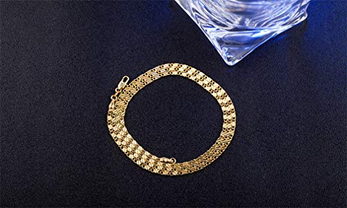 CHASIROMA 18K Gold Plated Wide Curb Cuban/Figaro/Snake Chain Link Necklace for Pendant Men Women Hip Hop Fashion Jewelry 20
