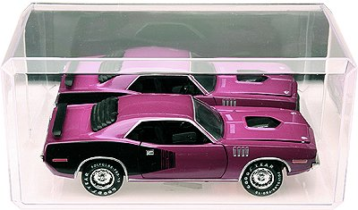 Pioneer Plastics 4 Clear Acrylic Display Cases (with Mirror) for 1:24 Scale Cars - 9'' x 4.375'' x 4.125'' by Pioneer Plastics (Image #3)