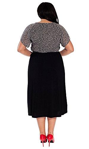 IGIGI Women's Plus Size Ally Midi Dress in Raven Daisy 30/32