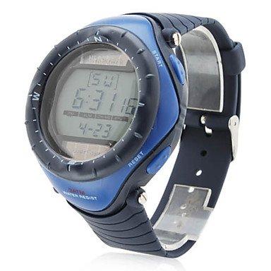 RU & UR hombres Reloj solar sport-Pulsera de silicona de automático digital ()