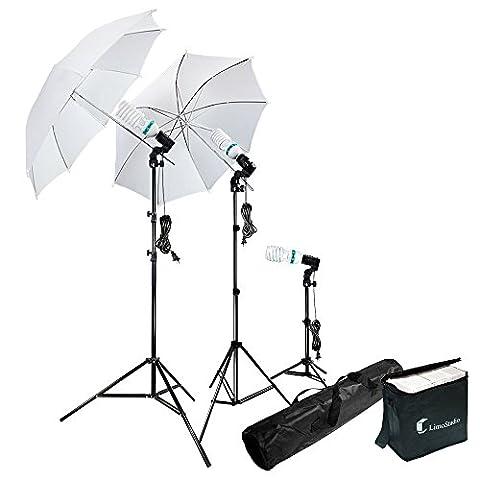 Photography Photo Portrait Studio 600W Day Light Umbrella Continuous Lighting Kit by LimoStudio, - Reflector Kit