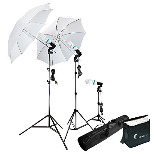 Photography Photo Portrait Studio 600W Day Light Umbrella Continuous Lighting Kit by LimoStudio, LMS103 (Camera Lighting Kit Strobe)
