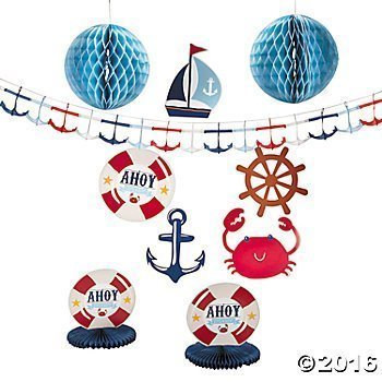 Paper Nautical Baby Shower Decorating (Nautical Themed Baby Shower)