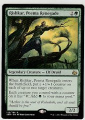 MTG Magic the Gathering Aether Revolt Rishkar, Peema Renegade Rare AER 122
