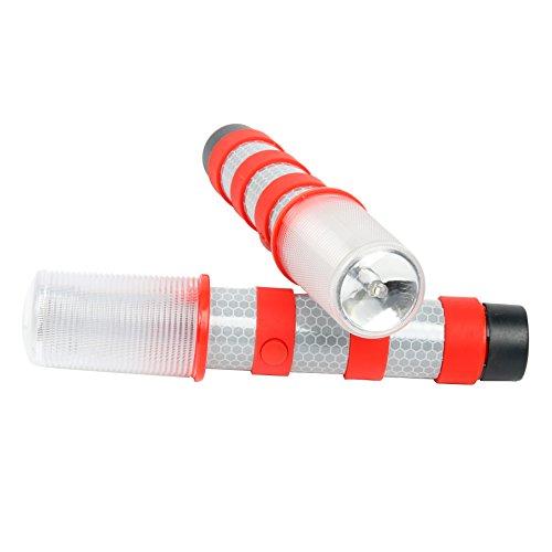 Red Am-Tech Magnetic 39 LED Flashing Triangle Hazard Warning Light