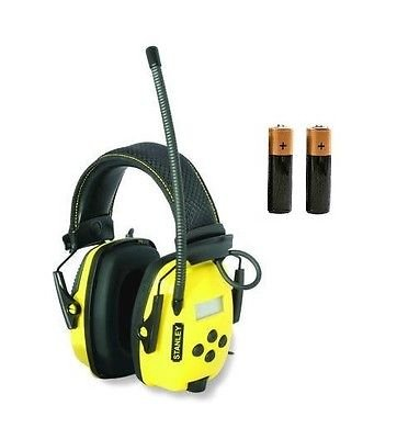 Stanley SYNC Digital AM/FM/MP3 Radio Noise Reduction Headphones Extra BATTERIES by The ROP Shop