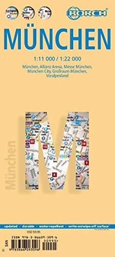 Laminated Munich Map by Borch (English Edition)