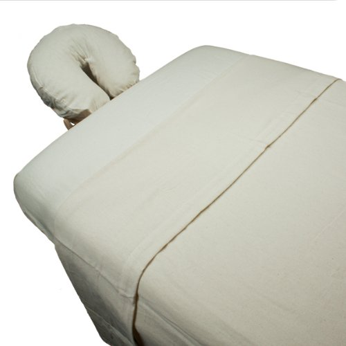 Body Linen 3 Piece Flannel Massage Sheet Set, Natural W67931