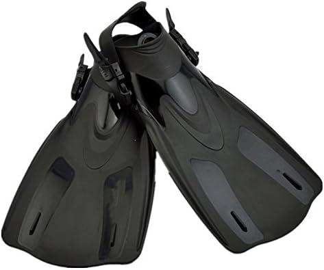 ダックウェブ 水泳およびシュノーケリングの黒のためのシュノーケリングおよび水泳旅行ひれの足ひれ ダイビングフィン (Size : L/XL)