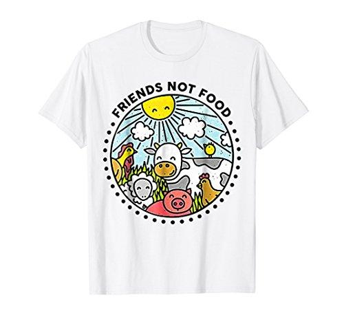 - Animals are Friends not Food Vegan Vegetarian Lover T Shirt