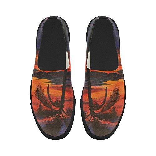 Detasjers Custom Palmtreehavsolnedgangmaleri Slipon Microfiber Menns Sko  Sneaker. B01ID82ZYE. D-etasjers Custom Palm-tree-hav-solnedgang-maleri Slip- on
