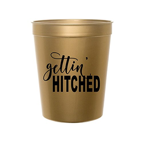 Getting Hitched (Gettin' Hitched Cups, Getting Hitched, Western Bachelorette Party Decorations, Gold Bachelorette Party Decorations, Getting Hitched Cups, Bachelorette Plastic Cups, Set of 10, Western Bridal Shower)