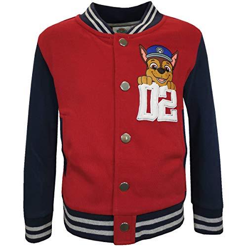 Paw Patrol College Jacket voor jongens, rood