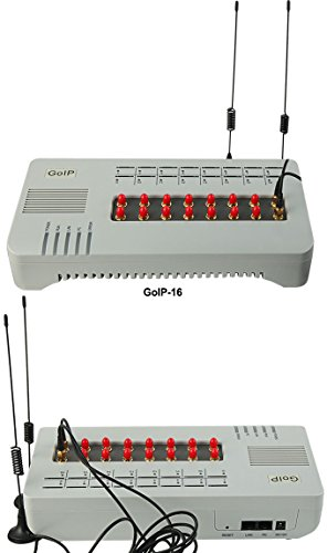Newest 16 Channels Goip GSM Voip Gateway SIP Ip Asteris PBX Phone Adapter+free 3pcs USB Voltage Detector