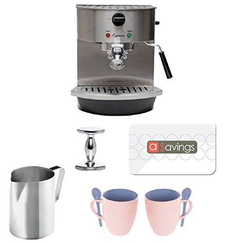 Jura 119 Stainless Steel Pump Espresso and Cappuccino Machine + Stainless Steel 18/8 gauge 20 oz Frothing Pitcher + Accessory Kit