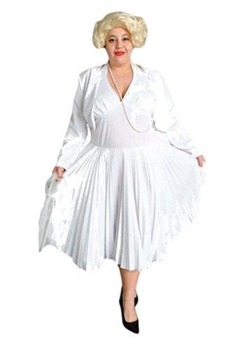 [Deluxe Plus Size Adult Marilyn Monroe Theatrical Quality Costume] (Marilyn Monroe Deluxe Adult Costumes)