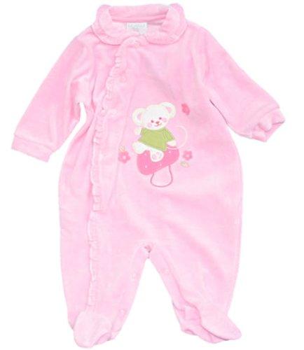 Girandola volantes de color de rosa de terciopelo de Pelele para bebé, dormir y de