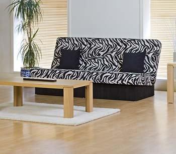 Zander 3 Seater Zebra Print Sofa Bed