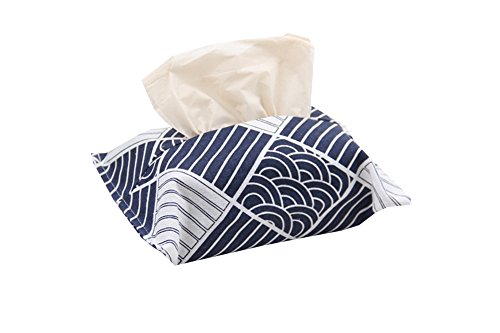 Freedi Linen Tissue Box Cover Waterproof Napkin Storage Box Container Case Decorative Tissue Holder Box Bag For Living Room Bathroom Night Stands Bedroom Dressers Car (Style - B)