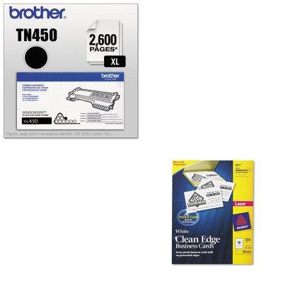 KITAVE5877BRTTN450 - Value Kit - Avery Two-Side Printable Clean Edge Business Cards (AVE5877) and Brother TN450 TN-450 High-Yield Toner (BRTTN450) by Avery