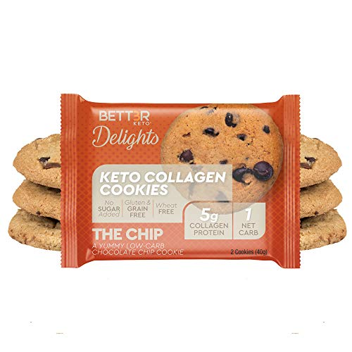Healthy Keto Snacks Chocolate Chips Cookies by Bett3r Keto | Low Carb High Fat | Ketogenic, Primal, Paleo, Atkins | Almond Flour, Sugar Free, Dairy and Gluten Free, All natural Ingredients| 6 Cookies 1