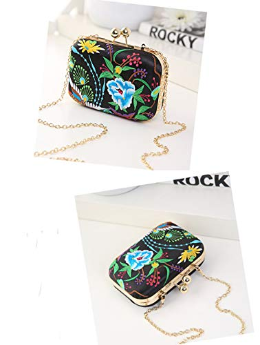 Wallet Bag Luxury Pouch Colorful Handbag Detachable Girl Women Purse Cocktail Key Tote Banquet Party Embroidery Gift Storage Clutch Vintage Bag Small Shoulder Evening Ladies Flower Party Prom Cosmetic Lipstick BOBPfqX