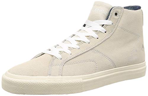 Emerica Men's OMEN HI Skate Shoe White, 8.5 Medium US (Emerica Made)