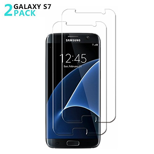 Samsung Galaxy S7 Screen Protector,TEIROO [2Pack] [9H Hardness][Bubble Free][Ultra-Clear][Scratch Proof][Case Friendly] Tempered Glass Screen Protector for Galaxy S7