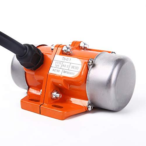 BIZOEPRO Concrete Vibrator Vibration Motor 30W Mini Vibrating Motor Single Phase Aluminum Alloy AC 110V 3600rpm Vibrating Vibrators for Shaker Table