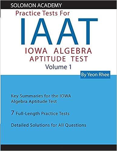 Solomon Academy S IAAT Practice Tests Practice Tests For