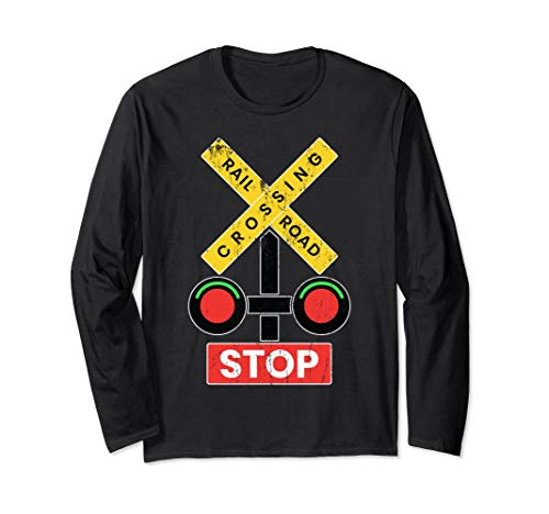 Railroad Crossing Sign Halloween Costume T-Shirt -