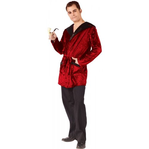 Fun World Men's Casanova Smoking Jacket Adlt, Multi, One Size