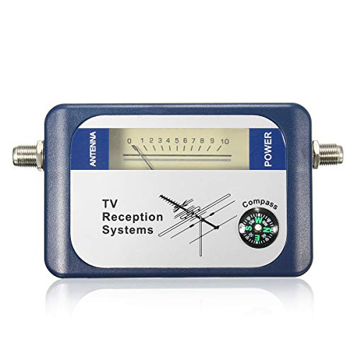 (HITSAN INCORPORATION DVB-T TV Antenna Finder Digital Aerial Terrestrial Signal Strength Meter Pointer Satellite Receiver)