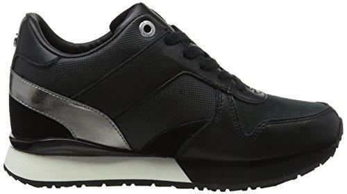 Donna Wedge Nero Black Basse Hilfiger 990 da Ginnastica Tommy Sneaker Scarpe Ef1z8fq0