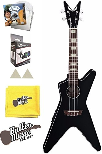 - Dean UKE ML E CBK Concert Size Acoustic Electric Ukulele w/Bag, Strings and More