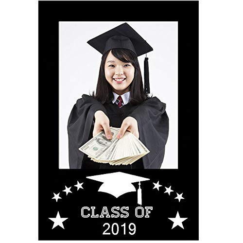 Graduation Photo Booth Props Selfie Frame Party Decorations - Graduation Party Supplies 2019 Social Media Xmas Frame ()
