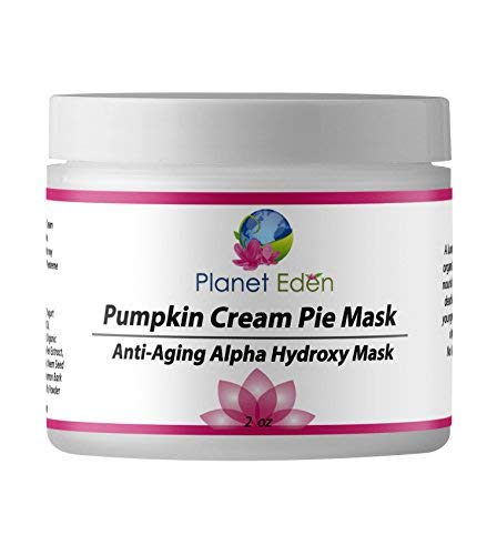 Planet Eden 10% Glycolic AHA Pumpkin Cream Pie Mask for Exfoliation and Sun Damaged Aging Skin - Remove Dead Skin and Refresh Dull Skin ()