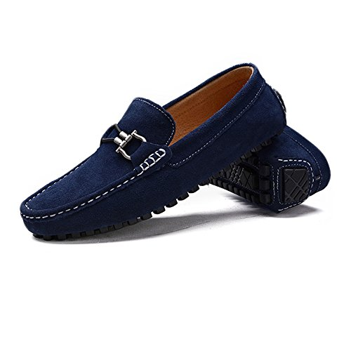 Mocassini Flat uomo Business morbida Militare Nhatycir metallo in pelle on Shoes guida Scarpe Slip automatici vera Marina Mocassini da barca Mocassini con in Fashion pelle in da vera bottoni da I16F81