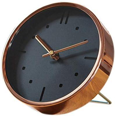 ChengCheng SHPO 壁掛け時計、時計メタル多機能時計ウォールクロックデュアルユースベッドルームシンプルなデスクトップサイレント時計リビングルームの壁時計 壁時計 (Color : A)