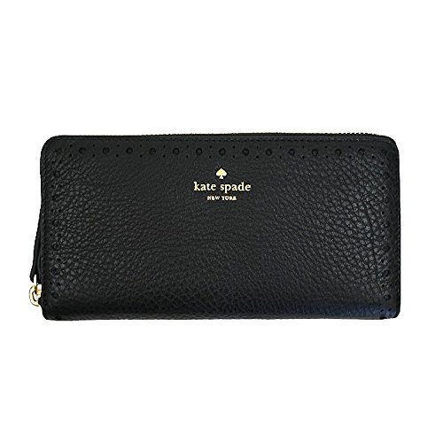Kate Spade New York James Street Neda Zip Around Wallet WLRU3104 (Black) by Kate Spade New York