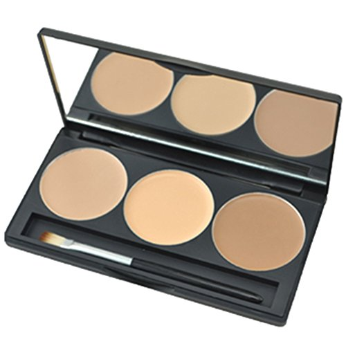 Professional 3 Color Concealer Camouflage Makeup Palette ,3.51 Ounce 03# by Luckse