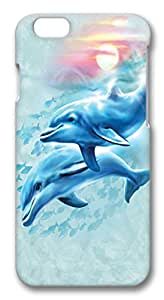 Dolphin Sunset PC Case Cover for iphone 6 plus 5.5inch