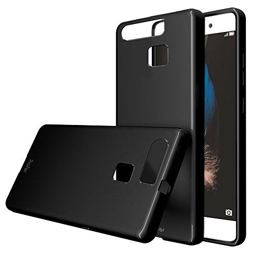 Huawei P9 Lite Hülle, Profer TPU Schutzhülle Tasche Case Cover Ultradünn Kratzfest Weich Flexibel Silikon Bumper für Huawei P9 Lite (TPU-Schwarz)