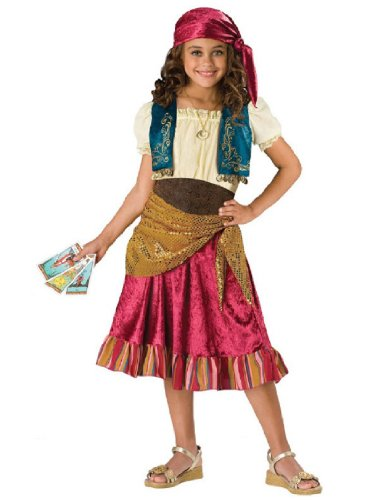 [InCharacter Costumes  Girls Gypsy Dress Costume, Multi Color, Large] (Girl Gypsy Costumes)