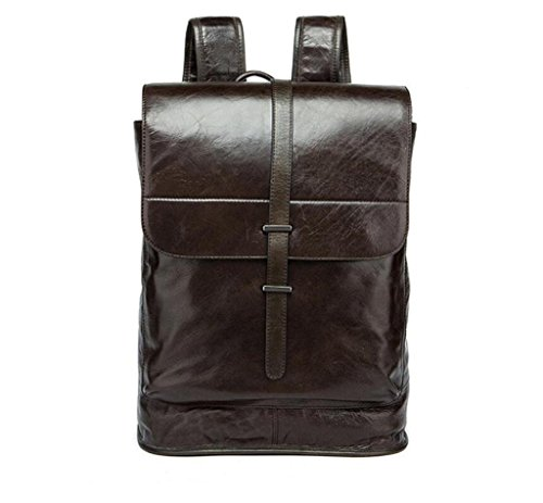 Travel men's school Men's 2 Bag Shoulder Leather Backpack Bao Bag student z8UIqxxaw